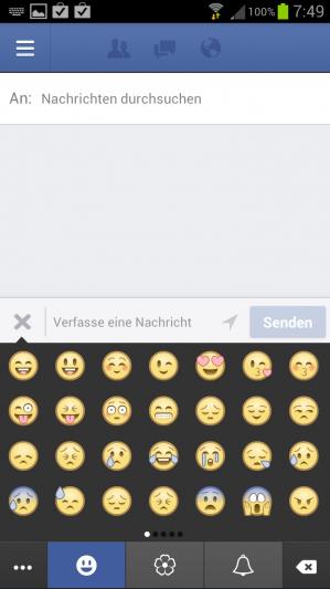 Facebook mit Smileys