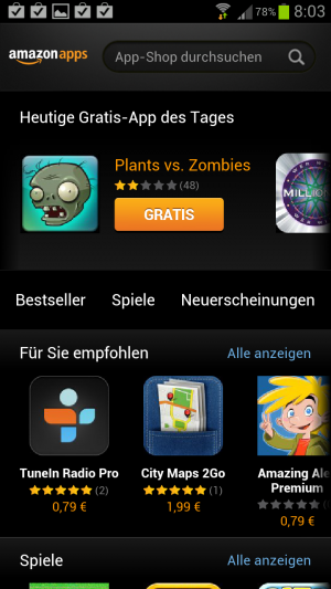 Der Amazon App-Shop