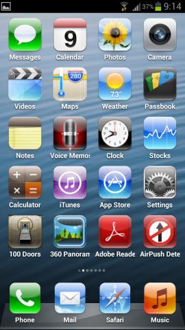 Fake iPhone 5 mit 5 Reihen
