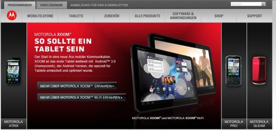 Motorola Smartphone- und Tablet-Angebot (c) Motorola