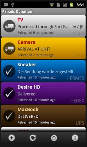 die android app pakete zeigt an wann der paketbote kommt. Black Bedroom Furniture Sets. Home Design Ideas