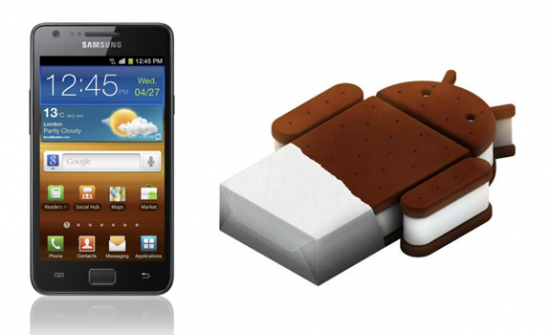 Samasung und Icecream Sandwich von Google