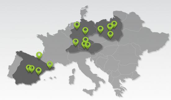 Die teilnehmenden Unis aus fünf Ländern - HTC The Tomorrow Talks