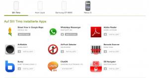 Apps von der Webseite des Play Store aus installieren, updaten und löschen
