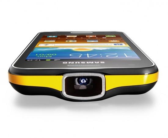 GALAXY Beam von Samsung mit Beamer-Linse (c) Samsung