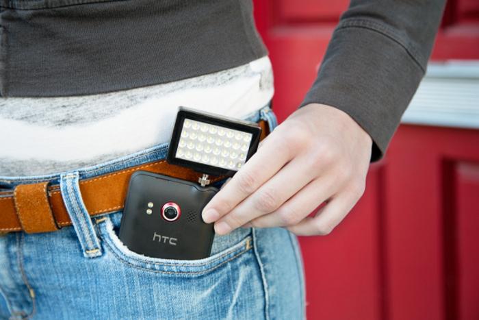 Pocket Spotlight ist ein praktisches Zubehör für Foto- und Videoaufnahmen