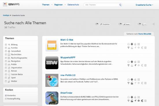 Apps vom Staat auf GovApps.de