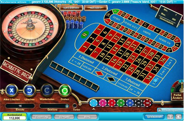 Roulette-Tisch bei Prime Slots
